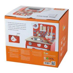 Детская кухня Viga Toys из дерева с посудой (50231)