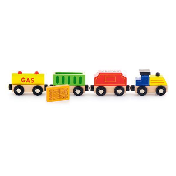Набор для железной дороги Viga Toys Грузовой поезд с топливом (50820)
