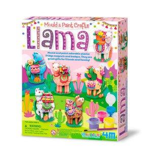 Набор для творчества 4M Магниты из гипса Ламы (00-04754)