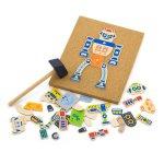 Набор для творчества Viga Toys Деревянная аппликация Робот (50335)