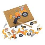 Набор для творчества Viga Toys Деревянная аппликация Строительная техника (50336)