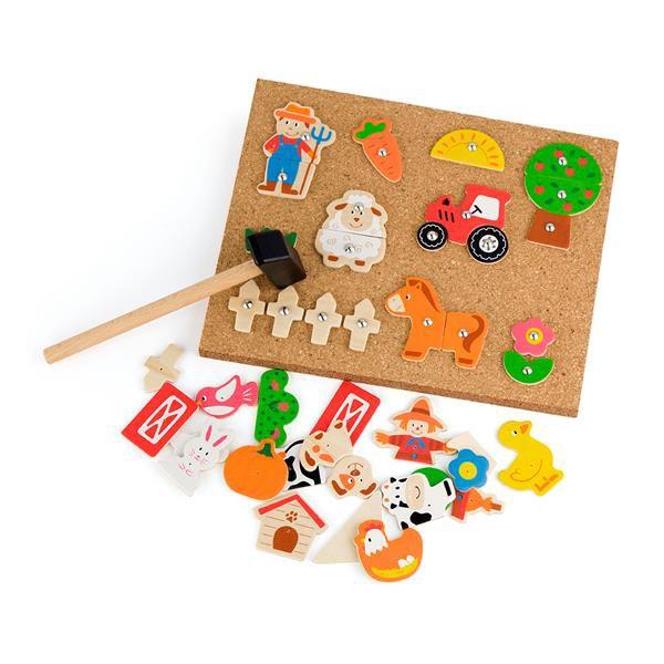 Набор для творчества Viga Toys Деревянная аппликация Ферма (51606)