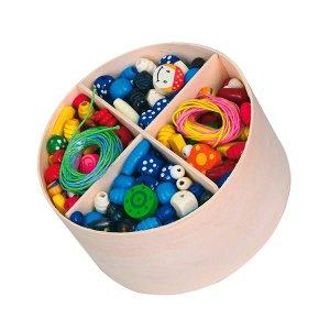 Набор для творчества Viga Toys Деревянные бусины (56002)