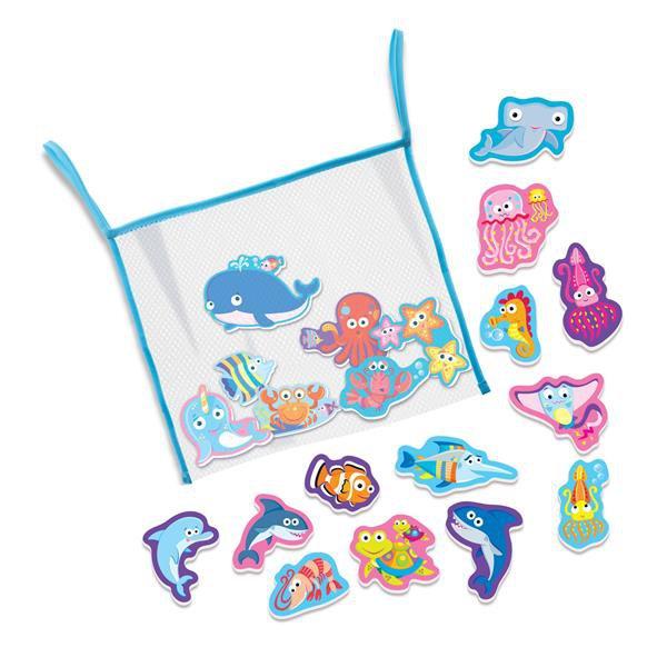 Набор наклеек для ванной 4M Морская жизнь (00-04745)