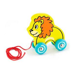 Деревянная каталка Viga Toys Лев (50090)