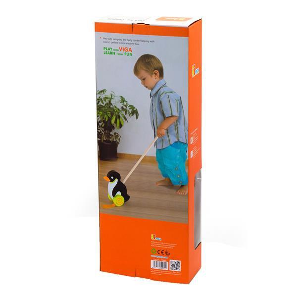 Деревянная каталка Viga Toys Пингвинчик (50962)