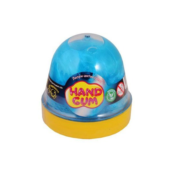 """Лизун-антистресс """"Hand gum"""" 120 г голубой"""
