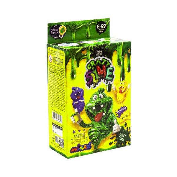 """Набір для дослідів Лизун """"Crazy Slime - своїми руками """"зелений"""