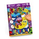 """Фреска из цветного песка """"Sandart"""" Мишка на луне"""