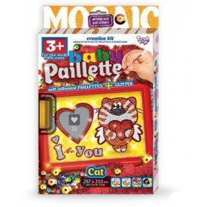 "Картина-мозаика из пайеток ""Baby Paillette: Котик"""