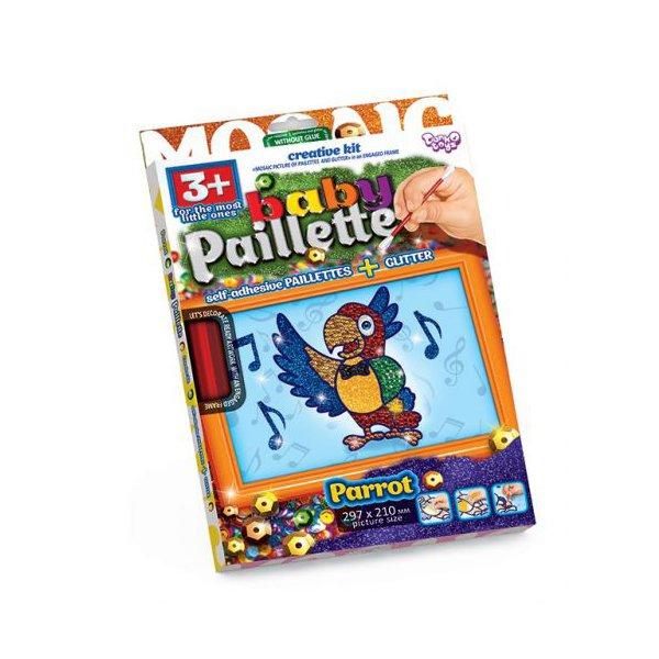 """Картина-мозаика из пайеток """"Baby Paillette: Попугай"""""""