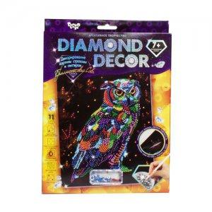 """Набор для творчества """"Diamond Decor: Бриллиантовая сова"""""""