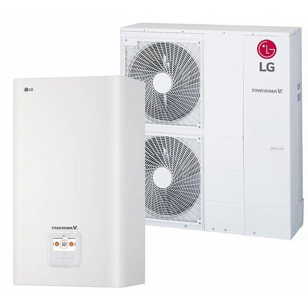 Наружный и внутренний блок теплового насоса LG HU121.U33 + HN1616 NK3 (1ф) - 12кВт
