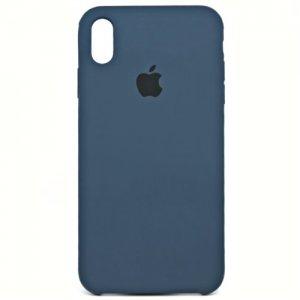 Чехол Silicone Case для iPhone X/Xs Blue Cobalt