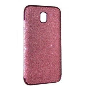 Силикон блестки Хром IPhone X/Xs Pink