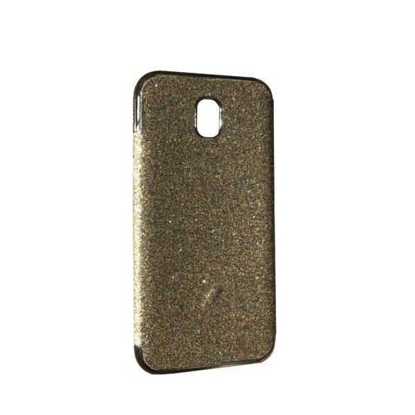 Силикон блестки Хром IPhone X/Xs Silver