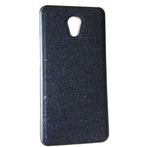 Чохол силікон блискітки Meizu M6 Note Black