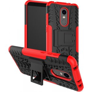 Чехол-накладка TOTO Dazzle kickstand 2 in 1 phone case для Xiaomi Redmi 5 Red