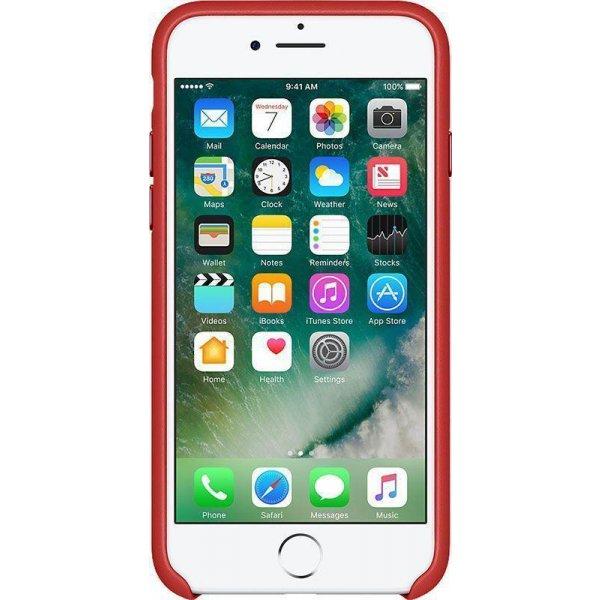 Чехол-накладка Apple Leather Case iPhone 7/8 Red