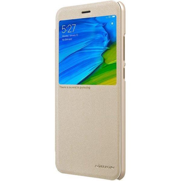 Чехол-книжка Nillkin Sparkle Leather Case Xiaomi Redmi Note 5 Gold