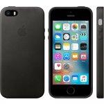 Чехол-накладка Apple Leather Case iPhone 5/5s/SE Black