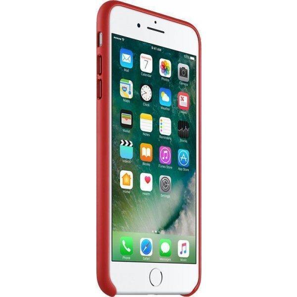 Чехол-накладка Apple Leather Case iPhone 7/8 plus Red