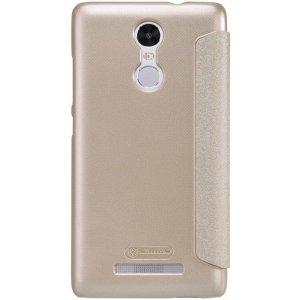 Чехол-книжка Nillkin Sparkle case для Xiaomi Redmi Note 3 Gold