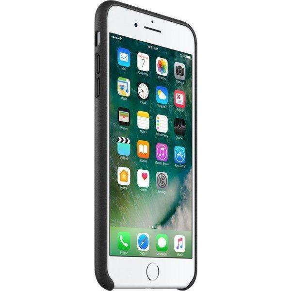 Чехол-накладка Apple Leather Case iPhone 7/8 plus Black