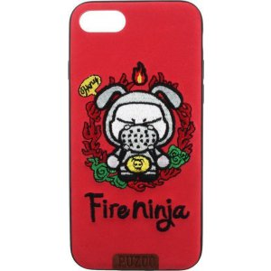 Чехол-накладка PUZOO TPU plusTPU with stitchwork craft Star show iPhone 7/8 Red Fireninja