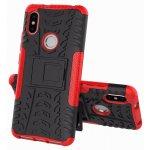 Чехол-накладка TOTO Dazzle kickstand 2 in 1 phone case для Xiaomi Redmi S2 Red