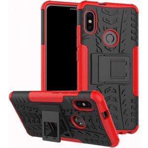 Чехол-накладка TOTO Dazzle kickstand 2 in 1 phone case для Xiaomi Mi 6x/Mi A2 Red