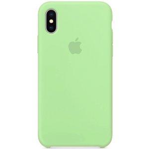 Чохол-накладка для Apple Silicone Case iPhone X Green