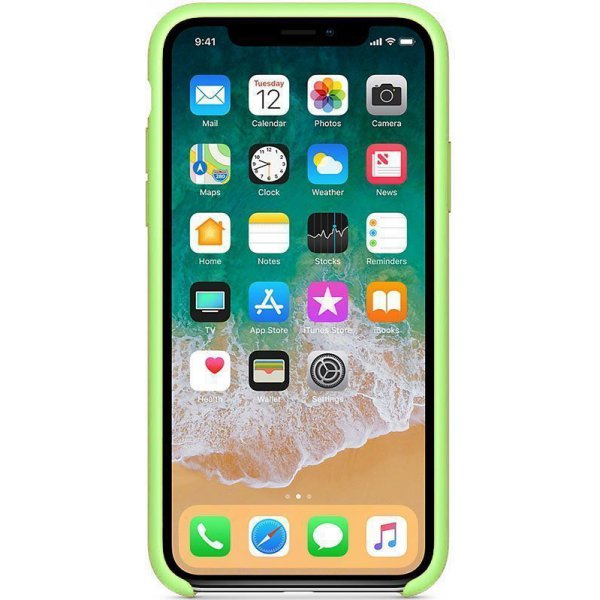Чехол-накладка Apple Silicone Case для iPhone X Green