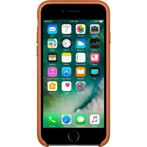 Чехол-накладка Apple Leather Case iPhone 7/8 Brown
