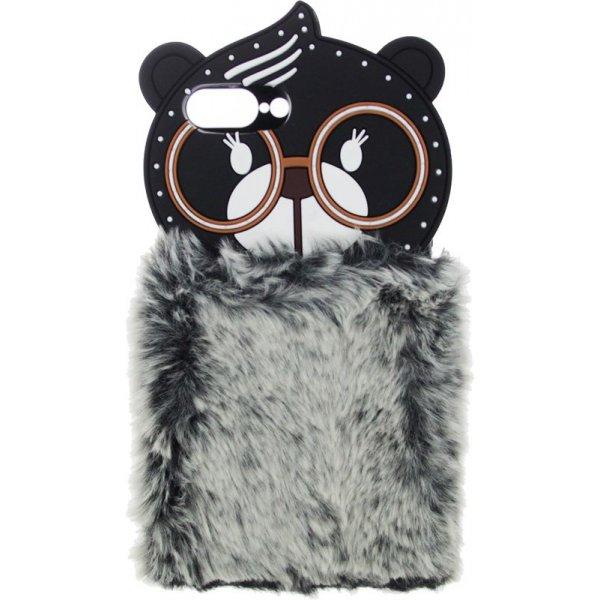 Чехол-накладка TOTO TPU Fluffy Case для iPhone 7 Plus /8 Plus Bear Gray