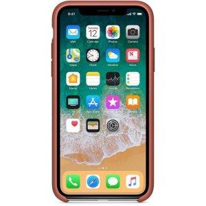 Чехол-накладка Apple Silicone Case для iPhone X Brown