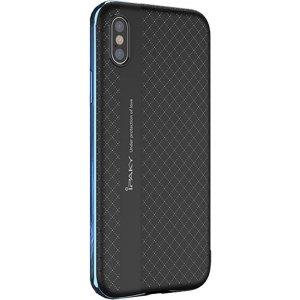 Чехол-накладка Ipaky TPU plusPC iPhone X Black/Blue
