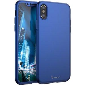 Чехол-накладка Ipaky 360 PC Full Protection case iPhone X Blue