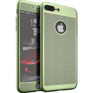 Чохол-накладка Ipaky 360 Mesh PC Heat Dissipation cover case 3 in 1 iPhone 7 Plus Green