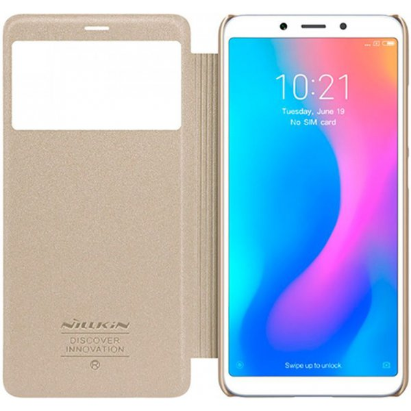 Чехол-книжка Nillkin Sparkle Leather Case Xiaomi Redmi 6A Gold