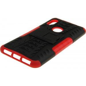 Чехол-накладка TOTO Dazzle kickstand 2 in 1 phone case для Xiaomi Redmi Note 6 Pro Red
