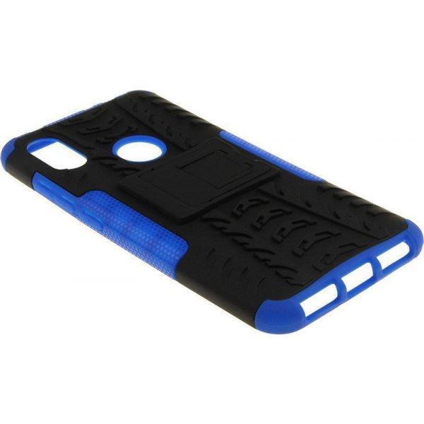 Чехол-накладка TOTO Dazzle kickstand 2 in 1 phone case для Xiaomi Redmi Note 6 Pro Blue