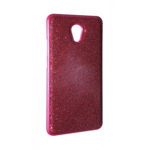 Чехол силикон блестки Meizu M5 Red