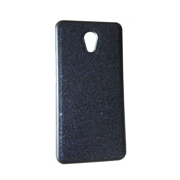 Чехол силикон блестки Meizu M5 Black