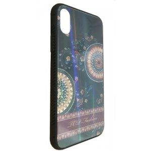 Чехол - накладка Glass TPU plusPC для Xiaomi Redmi Note 6 Pro Flowers Aurora