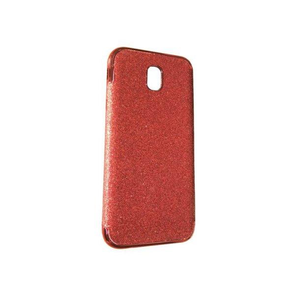 Силикон блестки Хром IPhone 7 Red