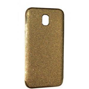 Силикон блестки Хром IPhone 7 Plus Gold