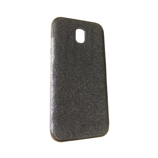 Силикон блестки Хром IPhone 5 Black
