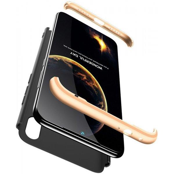 Чехол-накладка GKK 3 in 1 Hard PC Case Xiaomi Redmi 7 Gold/Black