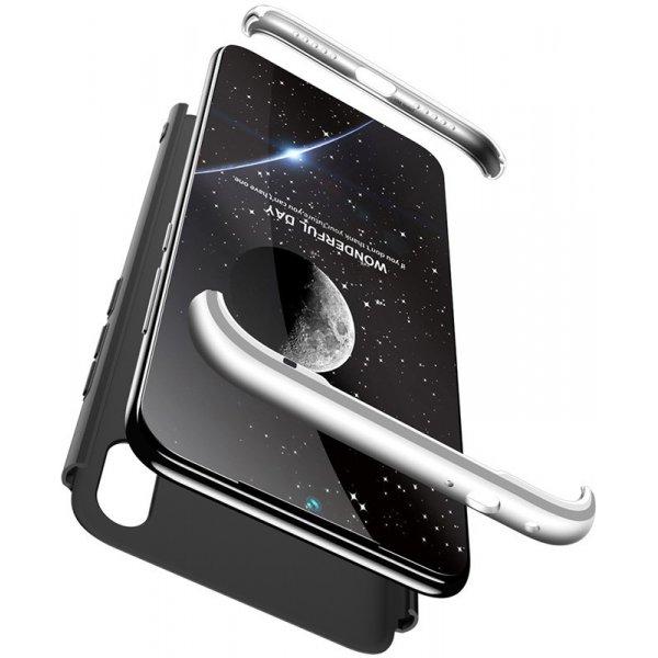 Чехол-накладка GKK 3 in 1 Hard PC Case Xiaomi Redmi 7 Silver/Black